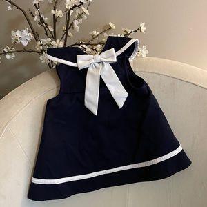 Rare Editions Navy & White Nautical Sailor Dress